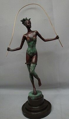 STATUE MAID PIN-UP Art Deco Stil Art Nouveau Jugendstil Stil Bronze ...