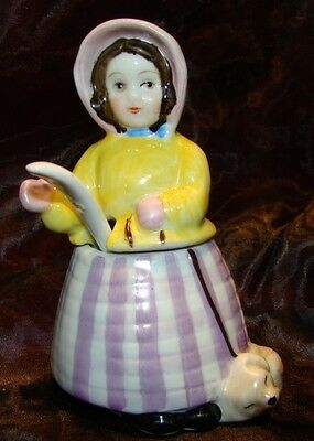 Mustard pot Figurine Cat Farm Art Deco-German Style Art Nouveau Style Porcelain