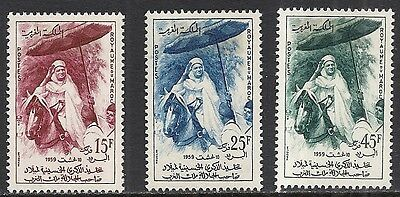 MOROCCO SCOTT 29 - 31 MH SET - 1960 KING MOHAMMED V 50th BIRTHDAY ISSUE