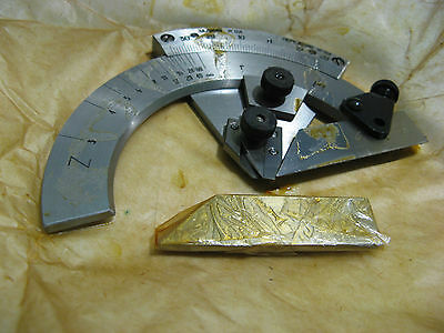 Precision USSR protractor for measuring broach and mill angles NEW
