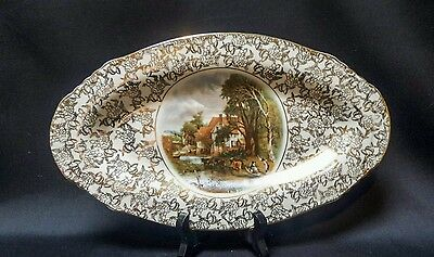 Lord Nelson John Constable Valley Farm Vintage Oval Serving plate Chintz 32cm
