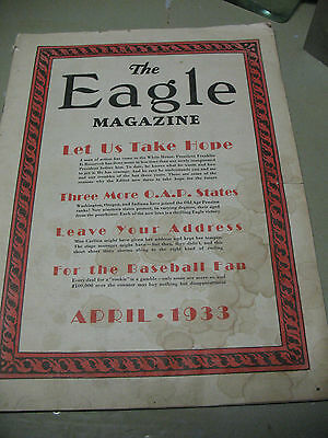The   Eagle   Magazine 1933 Issue Fraternal Order Of  Eagles
