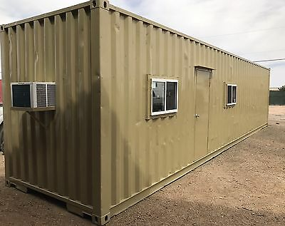 40'HC Container Modified into Office/ Storage Combo - El Paso, TX