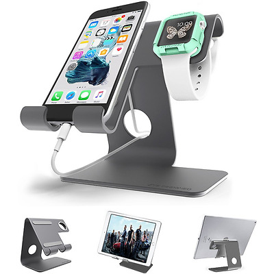 Universal 2 in 1 Cell Phone Desktop Tablet Stand ZVE Apple Iwatch Charging Stand