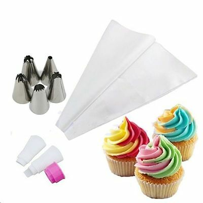 7 Pcs/set Nozzles Two Colors Converter Icing Piping Bag Cake Decorating Tool