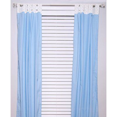 Pam Grace Maddox Monkey Curtain Panels, Blue
