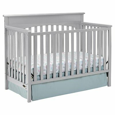 Graco Lauren 4-in-1 Convertible Crib, Pebble Gray