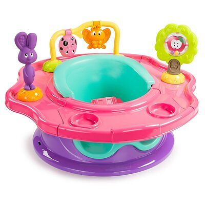 Summer Infant 3-Stage Superseat - Forest Friends - Pink Multicolored
