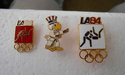 b3eb306a53b Vintage 1984 L.A. Summer Olympic Games Official JUDO Events Pictogram pin