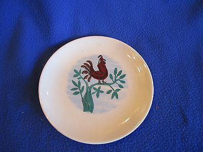 Universal Pottery Ballerina Rooster Bread Plate