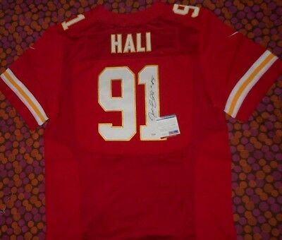Tamba Hali Signed Chiefs Autographed Official Nfl Football Jersey