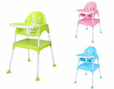 NEW Baby High Chair Highchair Feeding Seat Toddler Desk 3 in 1 Multifunctional