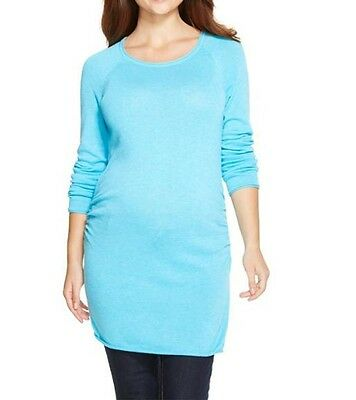 New-Small-Liz Lange Maternity-Womens Casual Pullover Sweater Tunic-Long Sleeve