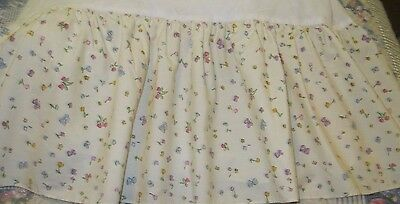 Classic Pooh Crib Skirt Dust Ruffle (Butterflies and Flowers)