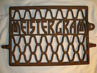 RARE Antique MEISTERGRAM Treadle Sewing Machine Cast Iron Foot Pedal Steampunk