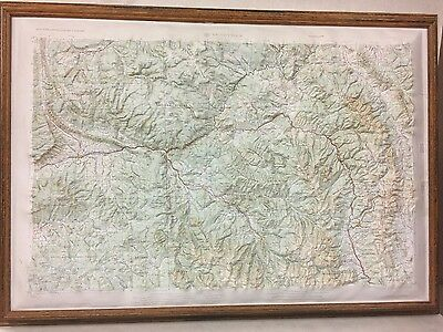 Framed LEADVILLE REGIONAL Raised Relief Map in the state of Colorado