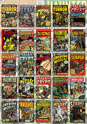 A3 Classic Horror Comic Covers Collection Poster