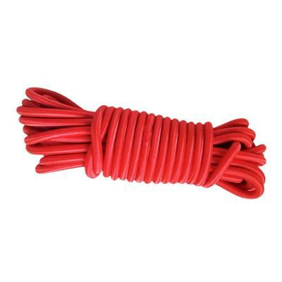 4mm x 10m Bungie Coated Rubber Rope Shock Cord Bungee Stretch Red