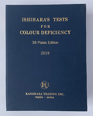 38 Plate Ishihara Tests Book For Color Blindness Ship From Usa 1 Day Handling
