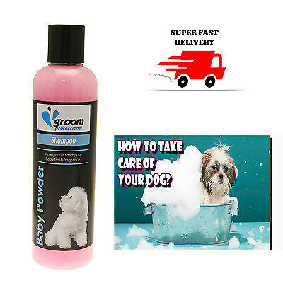 Groom Professional Baby Adult Pet Dog Fresh Shampoo 250 ml Fast Delivery
