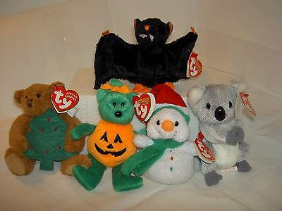 FREE POST TY Beanie Babies Bat-e Koowee Twinkling Melton Tricky Collection USED