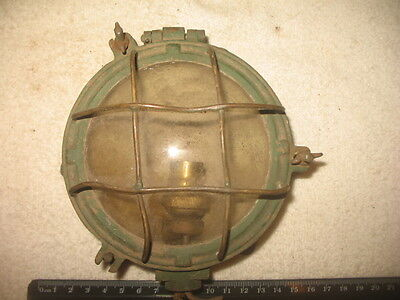 Vintage Brass Lamp Marine Nautical Diving Ships Light Underwater Collectible