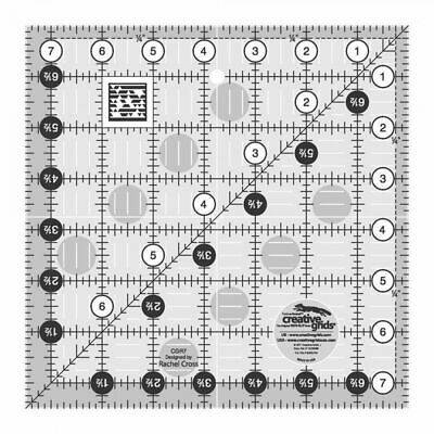 """Creative Grids Quilt Ruler 7.5"""" Square"""