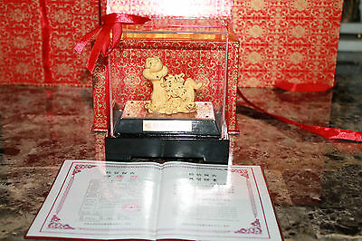 Chinese New Year Collection  24k Gold Snake Figure Good Fortune Statue 9.99