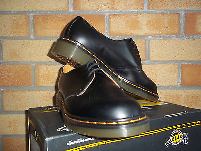 Dr Martens Black 3 Eyelet Made In England Gibson  Size 8