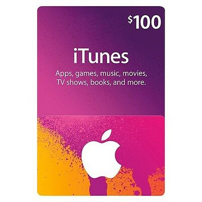 $100 Apple US iTunes Card Gift Card 100% Fast certificate Apple USA USD iTune