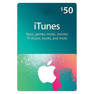 $50 Apple US iTunes Card Gift Card 100% Fast certificate Apple USA USD iTune