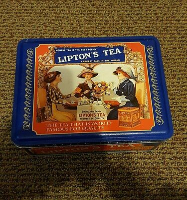 Vintage Lipton Tea limited edition tin honest tea is the best policy