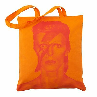 DAVID BOWIE is a Face in the Crowd TOTE BAG Orange V&A Aladdin Sane MORLEY //New