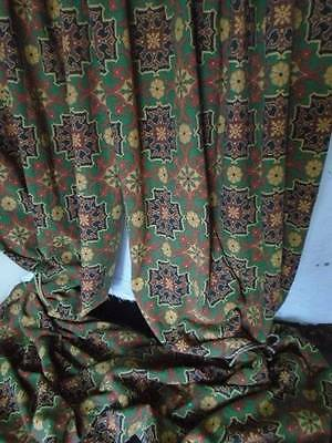 "Luxurious French Chateau Vintage "" Arts & Crafts Heavy Tapestry Cutains"