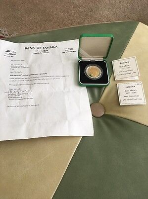 Bob Marley Royal Mint $50 2005 Coin W COA, Box 60th 320/5000 Rare