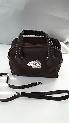New Barry Kieselstein-Cord Brown Pony Hair Leather & Sterling Trim Handbag. Nwt