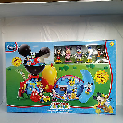 New Disney Store Deluxe Mickey Mouse Clubhouse Play Set 6 Figure Lights Sounds