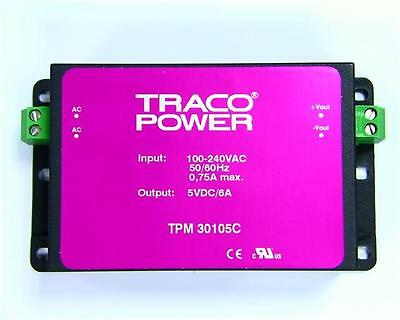 TRACO POWER TPM 33105C Switch Mode Power Supply (SMPS) 100-240VAC to 5V DC at 6A