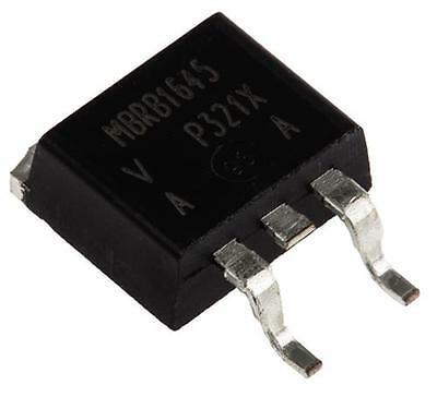 2 x Vishay VS-MBRB1645PBF Schottky Diode 16A 45V 3-Pin D2PAK SMPS Rectifier