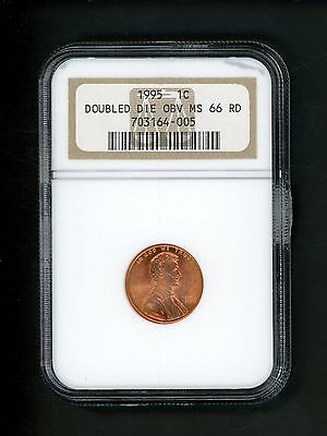 1995 Doubled Die Obverse US Lincoln Memorial Cent 1c .01 NGC MS66RD Red Gem UNC