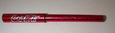COCA-COLA sparkling red and silver advertising promo ballpoint pen with cap