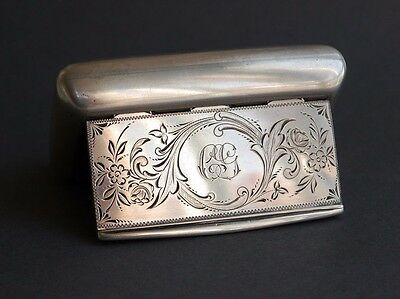 1905 Antique Art Deco  European Sterling Silver Box Vanity Pill Snuff  Box