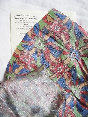 Colorful  Antique Vintage French Lame Fabric Multi/Silver Metallic Flapper