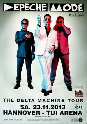 DEPECHE MODE - 2013 - Konzertplakat - Delta Machine - Tourposter - Hannover