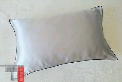 100% Mulberry Pure Silk Pillowcase Cover 25 Momme Silver grey Skin Hair Beauty
