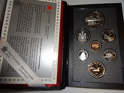 Royal Canadian Mint 1991 Proof Set With Silver Dollar