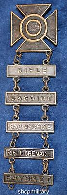 Wwii Us Army Sharpshooter Qualification Badge With Five Bars    4084