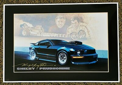 New Kenny Youngblood Signed Shelby Super Snake Carroll Don Prudhomme Print