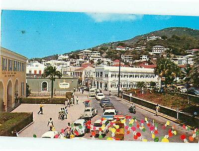 UNITED STATES VIRGIN Islands St Thomas Island Map New Postcard ...