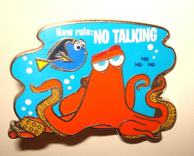 Disney Pin Trading Finding Dory Pixar Movie Hank New Rule: No Talking Octupus
